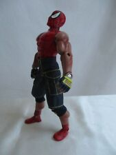 """1997 Marvel Spiderman 10"""" Action Figure Muscular Toy Biz Pants And Knee Pads"""