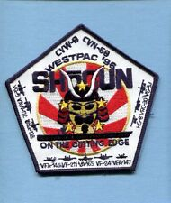 CVN-68 USS NIMITZ WESTPAC 96 SHOGUN US Navy Ship Squadron Cruise Jacket Patch