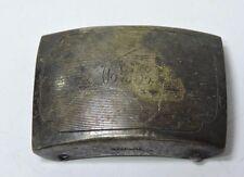 "Antique Vintage Sterling Silver Belt Buckle Initials ""T.E.D."" #KK385"