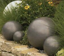 Gartenkugel Kugel Keramik winterhart schwarz anthrazit  matt glasiert D 30 cm N