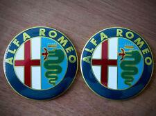 2pcs color Alfa Romeo emblem badge logo insignia 74mm - 145,146,147,155,159,166