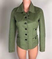 Carlisle Womens Blazer Jacket Wool Angora Light Green Soft Career Work Size 0