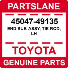 45047-49135 Toyota OEM Genuine END SUB-ASSY, TIE ROD, LH