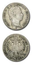 """Austria """"FRANC • IOS • I • D • G • AUSTRIAE • IMPERATOR"""" 1/4 Florin 1858 V VF KM"""