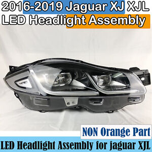 2016-2019 Jaguar XJ LED Headlight Assembly OEM Right with AFS XJL Headlamp Used