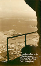 RPPC Looking Down on the San Fransisco Oakland Bay Bridge From Mt. Tamalpais
