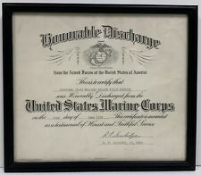1967 Armed Forces Honorable Discharge United States Marine Corp Certificate