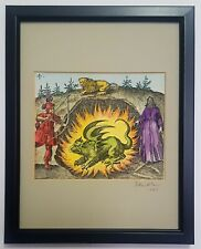 Alchemical fiery dragon from a 17th century engraving  - painting by Adam McLean