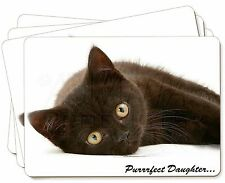 Black Kitten 'Purrrfect Daughter' Picture Placemats in Gift Box, PD-185P