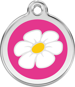 """Red Dingo """"Daisy"""" Engraved Pet Dog & Cat ID Tag - Free Engraving - 11 Colours"""