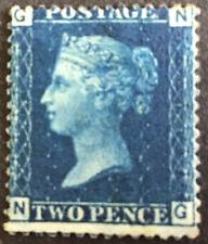 GB Victoria 2d Blue SG47 Plate 13 Deep Blue Mint No Gum C/V £375.00 As Mint 2016