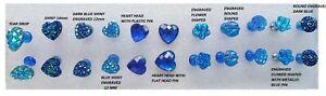 10 x Blue HEART ROUND HEADED NOVELTY HANDMADE PUSH PINS THUMB TACKS NOTICE BOARD