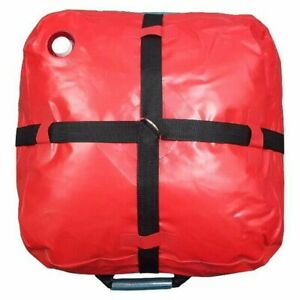 10 Gallon Red Vinyl Water Bag Inflatable Bounce House Anchor Weight - 4 Pack