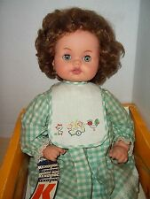 "Vintage Kehagias Greece 1960's Lisa Baby Doll 21"" With Original Box"