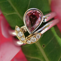 Ring Saphir Brillant 1.1 ct 0.15 ct Platin Gold PADPARADSCHA LOTUS SW 6.788.-Eur