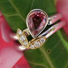 Ring Saphir Brillant 1.1 ct 0.15 ct Platin Gold PADPARADSCHA LOTUS SW 6.788.-Eur