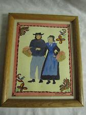 Original Painting of Amish Couple Pennsylvania Dutch by Edwina McMaster