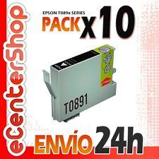 10 Cartuchos de Tinta Negra T0891 NON-OEM Epson Stylus Office BX300F 24H