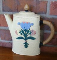 Vintage Retro Homco Hanging Wall Plastic Tea Pot Plaque Floral