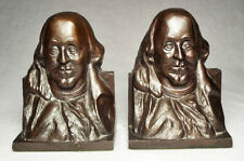 1925 Benjamin Franklin Type Metal Bookends by Barnhart Brothers & Spindler