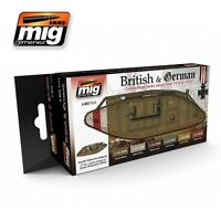 AMMO OF MIG WWI BRITISH & GERMAN CAMOUFLAGES SET Cod.AMIG7111