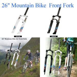 """26/"""" MBI Mountain bike 1/"""" Threaded Suspension Fork With Rim// v-type brake White"""