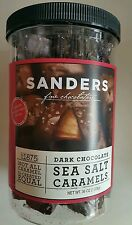 SANDERS Dark Chocolate Sea Salt Caramels Fine Chocolates  36 oz Jar