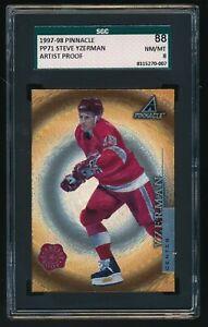 1997-98 Pinnacle Artist Proof #PP71 Steve Yzerman Detroit Red Wings SGC 8