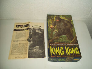VINTAGE AURORA KING KONG MODEL BOX AND INSTRUCTIONS ONLY 468-149