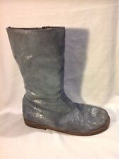 Mini Boden Grey Mid Calf Leather Boots Size 37