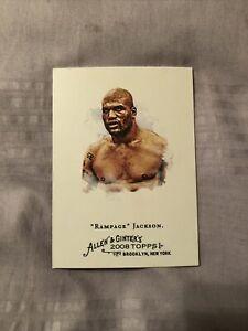 2008 allen& ginter worlds champions rampage jackson martial arts card #189 ex-mt