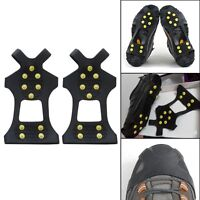 10Teeth/Nail Ice Snow Crampons Spike Anti-slip Shoe Cover for Climbing Fishing S