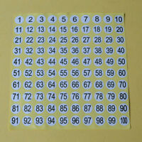 5 Sheets Number Round Self Adhesive Stickers Small Garment Letter Labels Tags