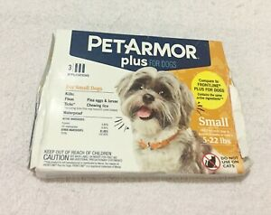 Genuine PetArmor Plus 3 Applications for Small Dogs (New damaged box) FREE SHPNG