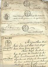 Lot de papiers notariés Indre et Loire Testament Mariage vente...  1823-1828