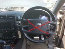 VW TOUAREG V10 5.0 TDI AUTO 2003-2006 LEATHER STEERING WHEEL WITHOUT AIRBAG  ✅