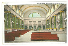 147-TRAINS & RAILROAD -USA -ILLINOIS -Chicago, Waiting Room, Northwestern Depot
