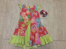 Vintage girls Oilily dress 104cm age 4 and hair clip