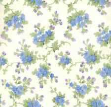 Flower Bouquet (Blue & Purple) FLANNEL Quilt Fabric - Free Shipping - 1 Yard