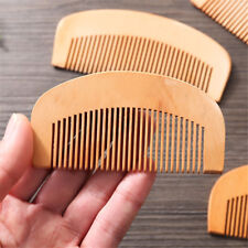 Trendy Hair Engraved Natural Peach Wood Wooden Comb Anti-Static Beard Comb Tools