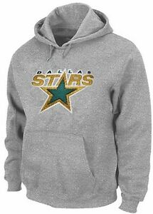 Dallas Stars NHL Majestic Big Logo Pullover Hoodie Gray Big Sizes