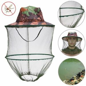 Camouflage Mosquito Hat Outdoor Fishing Net Beekeeping Hat Flying Insects New