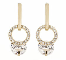 Crystal Drop/Dangle Round Stone Costume Earrings