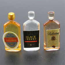2pcs Dollhouse Miniature Wine Whisky Bottles Shop Pub Bar Drinks Accessory