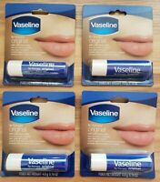Lot Of 4 Vaseline Lip Balm Therapy 4.8 g Original Petroleum Jelly (ChapStick)