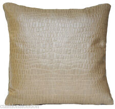 Beige Gold Cushion Cover Osborne And Little Woven Fabric Decorative Pillow Sofa