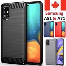 For Samsung Galaxy A51 & A71 Case - Carbon Fiber Shockproof Slim Armor Cover