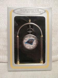 Sun Time Carolina Panthers Executive Sports Pocket Watch Clock NFL Football