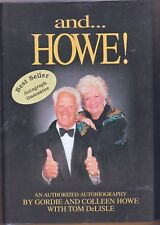 GORDIE HOWE AND HOWE AUTOGRAPHED SIGNED BOOK AND 5 HOWE CARDS!!