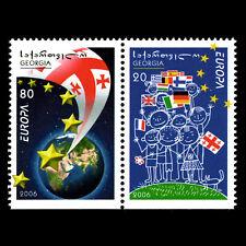 Georgia 2006 - EUROPA Stamps - Integration through the Eyes - Sc 398/9 MNH